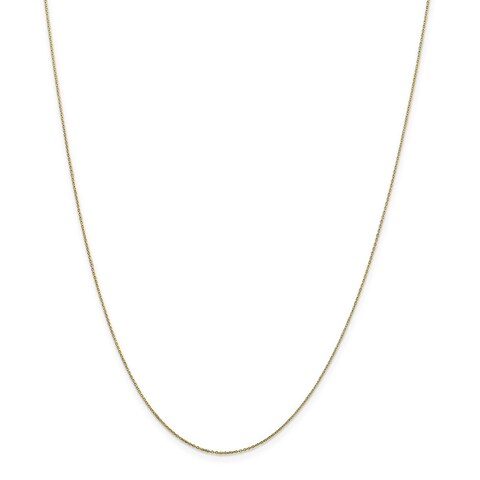 10 Karat .6mm Solid Diamond Cut Cable Chain