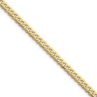 10 Karat 5.75mm Flat Beveled Curb Chain (2 options available)