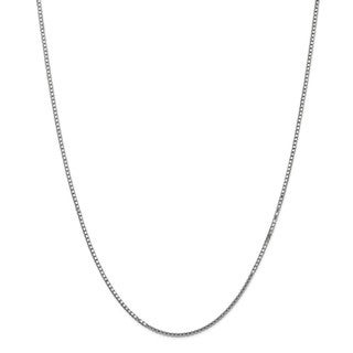10 Karat White Gold 1.50mm Box Chain