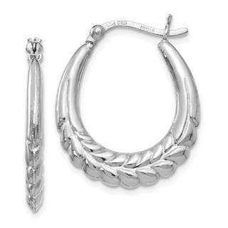 Sterling Silver Polished Hinged Hoop Earrings, By Versil|https://ak1.ostkcdn.com/images/products/16691153/P23009454.jpg?impolicy=medium