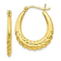 Sterling Silver Gold-tone 18k Flash Plated Hoop Earrings, By Versil