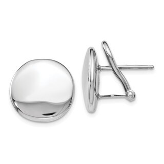 Sterling Silver Polished Omega Back Post Earrings, By Versil