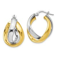Sterling Silver Gold-tone Rhodium Plated Earrings, By Versil