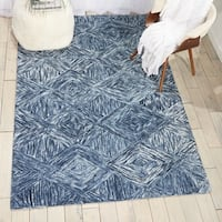 Nourison Linked Denim Contemporary Area Rug - 8' x 10'6