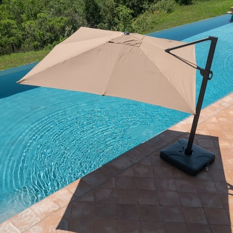 Wevok Sunbrella Aluminum Canopy Umbrella with Base by Havenside Home