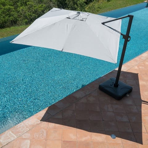 Wevok Sunbrella 10x13ft Aluminum Canopy Umbrella with Base by Havenside Home