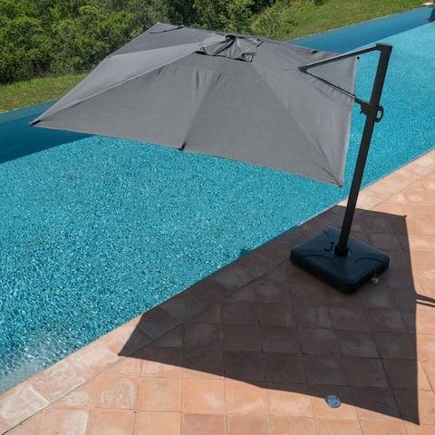 Wevok Sunbrella Aluminum Canopy Umbrella with Base by Havenside Home