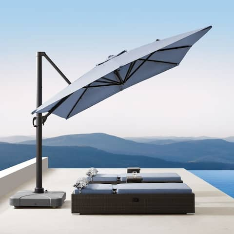 Havenside Home Wevok 13 x 10-FT Outdoor Sunbrella Aluminum Canopy Umbrella with Base