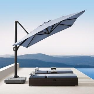 Corvus Valencia Outdoor Sunbrella Canopy Umbrella with Base