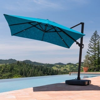 Corvus Valencia 10 ft. Sunbrella Canopy Patio Umbrella with Base