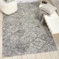 Nourison Linked Charcoal Contemporary Area Rug - 8' x 10'6