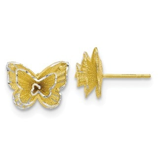 Sterling Silver Gold-tone Butterfly Earrings, By Versil