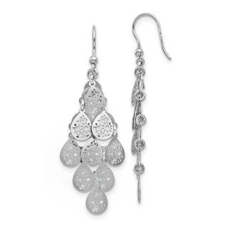 Sterling Silver Polished Tear Drop Dangle Earrings, By Versil