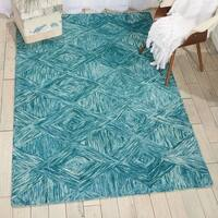 Nourison Linked Marine Contemporary Area Rug - 5' x 7'6""