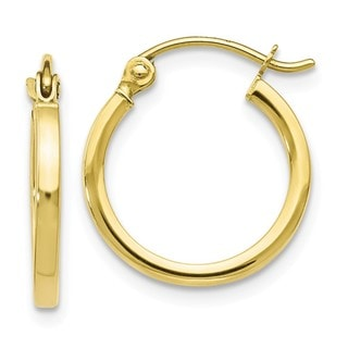 Link to 10K Yellow Gold High Polished Hinged Hoop Earrings by Versil Similar Items in Children's Jewelry