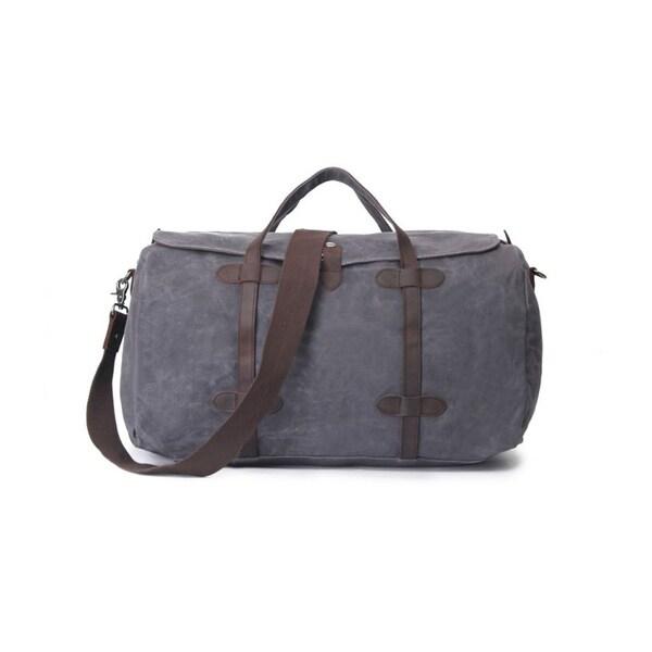 eabfca581b Shop Infurniture Retro Grey Waxed Canvas 12-ounce Travel Duffel Bag ...