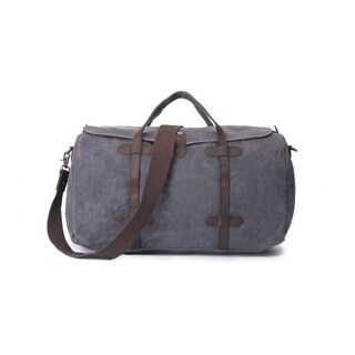 Infurniture Retro Grey Waxed Canvas 12-ounce Travel Duffel Bag