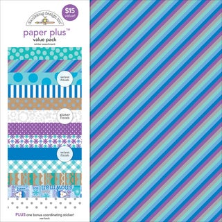 "Doodlebug Paper Plus Value Pack 12""X12"" 8/Pkg-Winter"