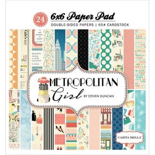 "Carta Bella Double-Sided Paper Pad 6""X6"" 24/Pkg-Metropolitan Girl, 12 Designs/2 Each"