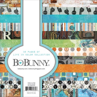 "BoBunny Single-Sided Paper Pad 6""X6"" 36/Pkg-Life In Color, 12 Designs/3 Each"