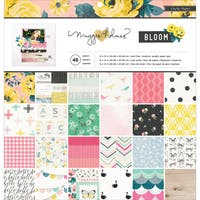 "Crate Paper Single-Sided Paper Pad 12""X12"" 48/Pkg-Maggie Holmes Bloom, 24 Designs/2 Each"