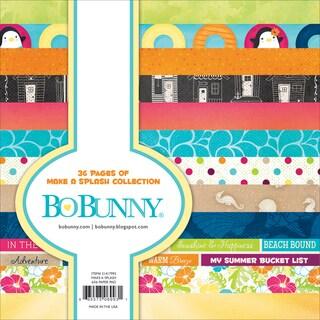 "BoBunny Single-Sided Paper Pad 6""X6"" 36/Pkg-Make A Splash, 12 Designs/3 Each"