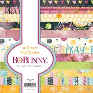 """BoBunny Single-Sided Paper Pad 6""""X6"""" 36/Pkg-Faith, 12 Designs/3 Each"""
