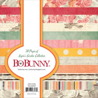 "BoBunny Single-Sided Paper Pad 6""X6"" 36/Pkg-Aryia's Garden, 12 Designs/3 Each"