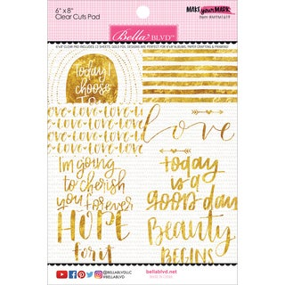 "Make Your Mark Clear Cuts Pad 6""X8""-"