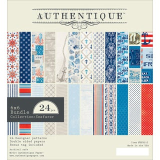 "Authentique Double-Sided Cardstock Pad 6""X6"" 24/Pkg-Seafarer, 12 Designs/2 Each"
