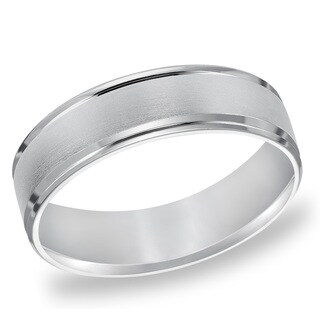 Cambridge Platinum Engraved 6-millimeter Wedding Band
