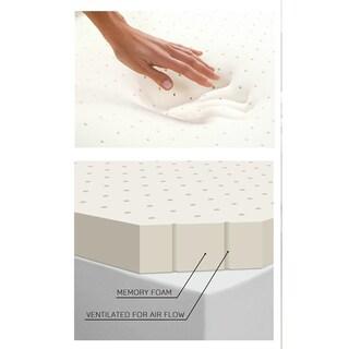 Memory Foam Mattress Topper - White
