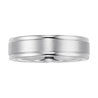 Cambridge Jewelry Men's 6mm Platinum Engraved Wedding Band