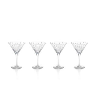 7-Inch Tall Fintan Martini Glasses, Set of 4