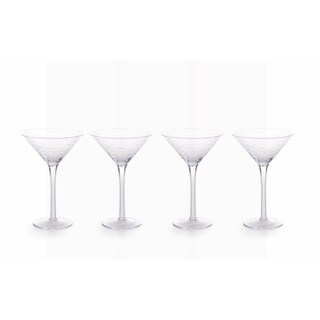 """Keely Fish Cut"" 6.75"" Tall Martini Glass (Set of 4)"