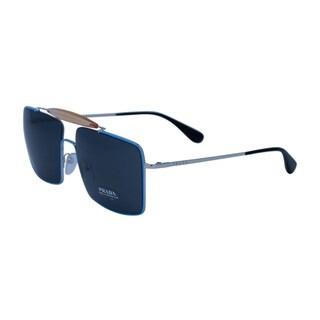 Prada SPR 57S UFQ Men Bue Frame Grey Lens Sunglasses