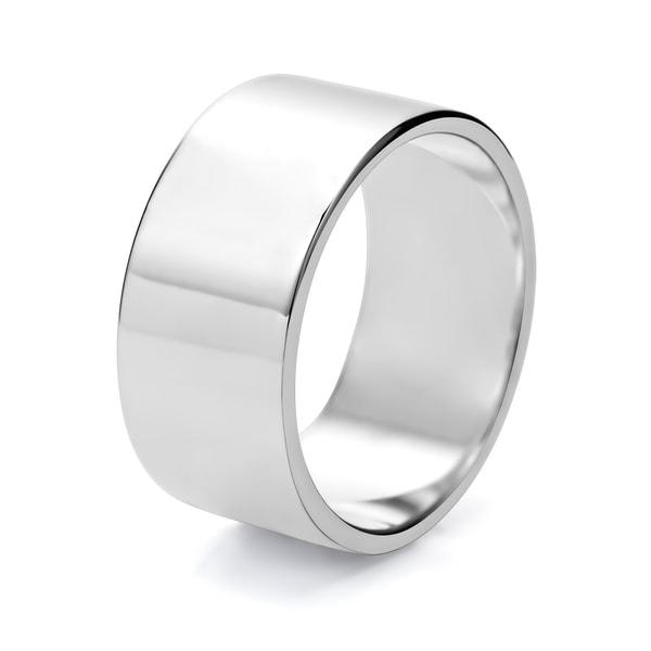 TwoBirch 10 Millimeter Wide Plain Mens Wedding Ring