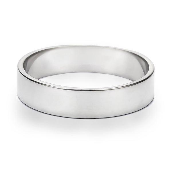 TwoBirch 5 Millimeter Wide Plain Menx27s Wedding Ring