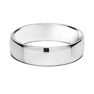 TwoBirch Men's 5.5-millimeter Plain Wide Wedding Ring