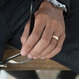 TwoBirch Men S 10k Gold 5 Millimeter Wide Plain Wedding Ring