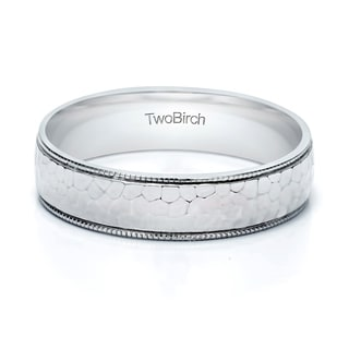TwoBirch 5 Millimeter Wide Plain Men's Wedding Ring