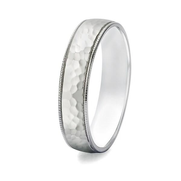 TwoBirch 5 Millimeter Wide Plain Mens Wedding Ring