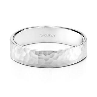 TwoBirch 5 Millimeter Wide Plain Men's Wedding Ring