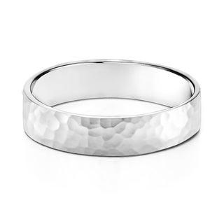 TwoBirch 5 Millimeter Wide Plain Men's Wedding Ring in Solid Platinum