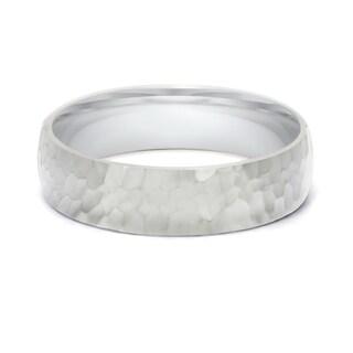 TwoBirch 5.5 Millimeter Wide Plain Men's Wedding Ring