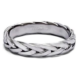 TwoBirch Braided Men's Wedding Ring