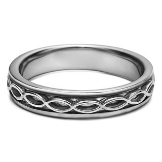 TwoBirch Men's Celtic Infinity Wedding Band