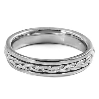 TwoBirch Celtic Braided Infinity Men's Wedding Ring in Solid 10k Gold