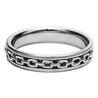 TwoBirch Chainlink Unique Men's Fashion Wedding Ring