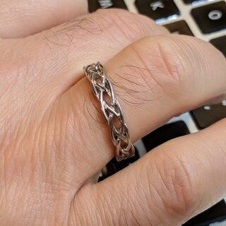 TwoBirch Celtic Infinity Braided Men's Ring in Solid Platinum